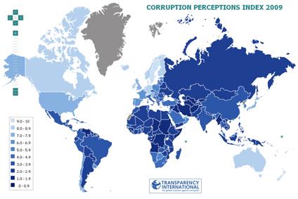 corruption map Thailand