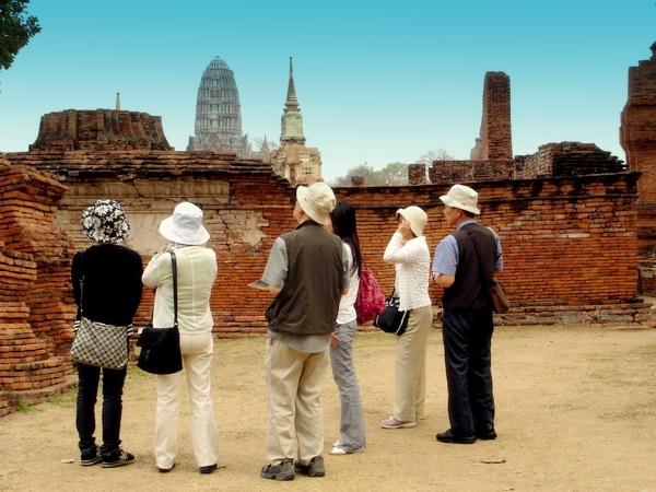 Tourist visit ancient site
