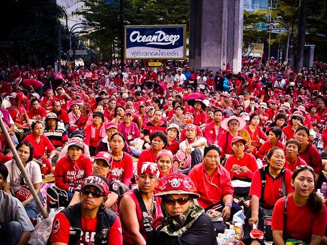 Red Shirts in downtown Bangkok