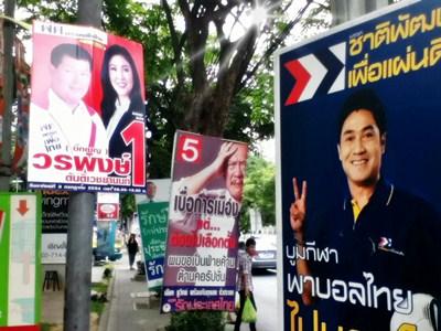 posters Bangkok elections