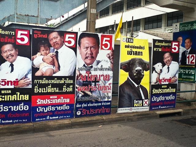 posters Bangkok election