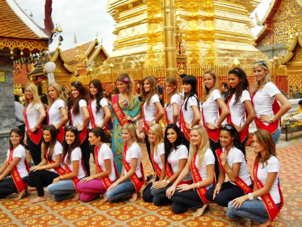 Miss Belgium pageant at Doi Sutep