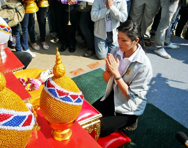 Prime minister Yingluck Shinawatra recently visited Ayutthaya