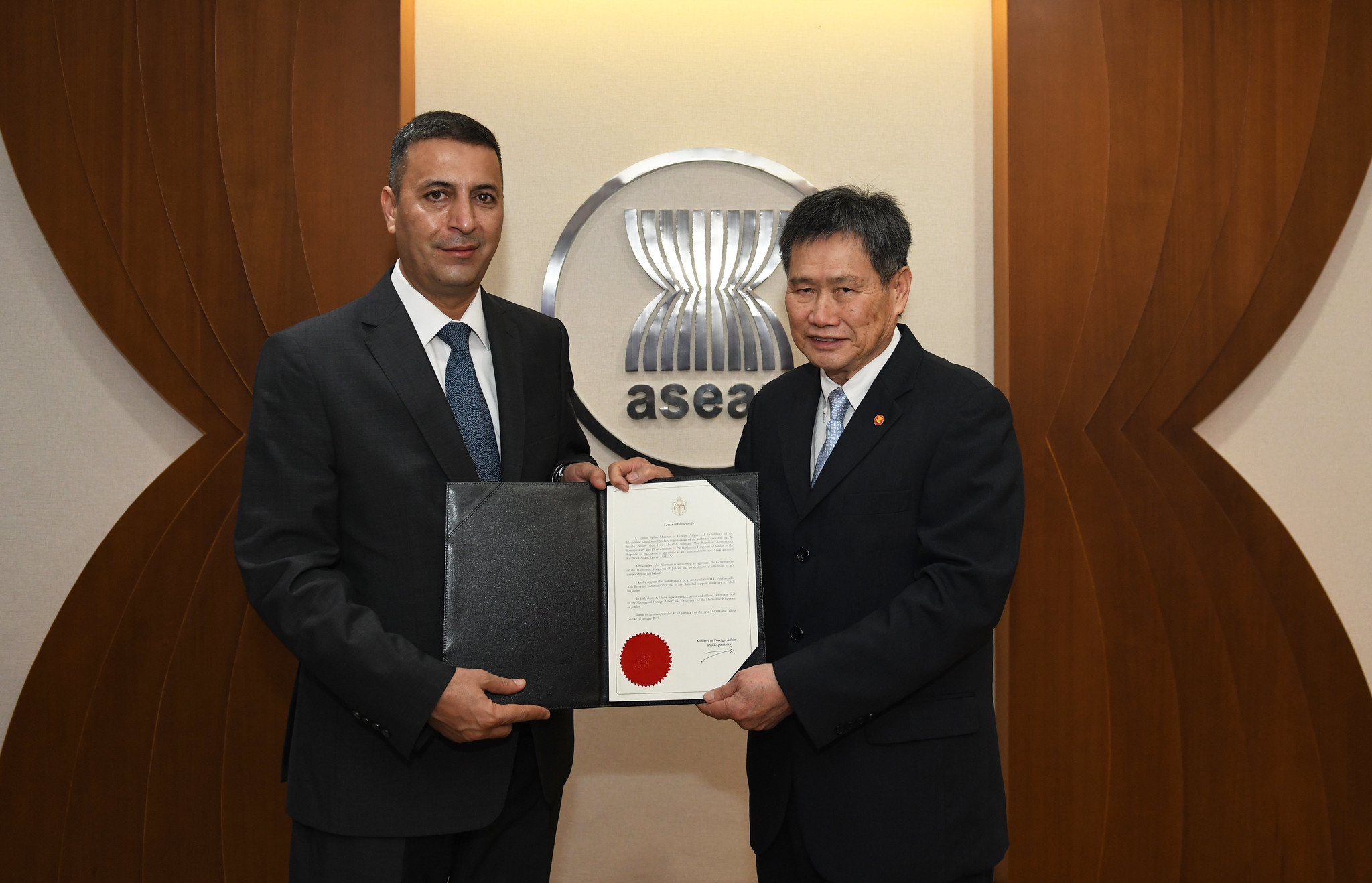 Ambassador of the Hashemite Kingdom of Jordan to ASEAN presents