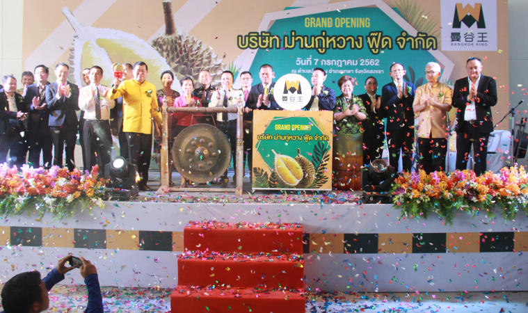 Durian Processing Factory opened in Southern Thailand – China, Markets