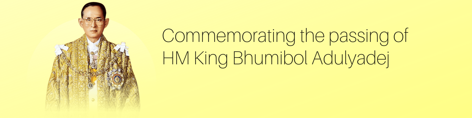 Commemorating the passing of King