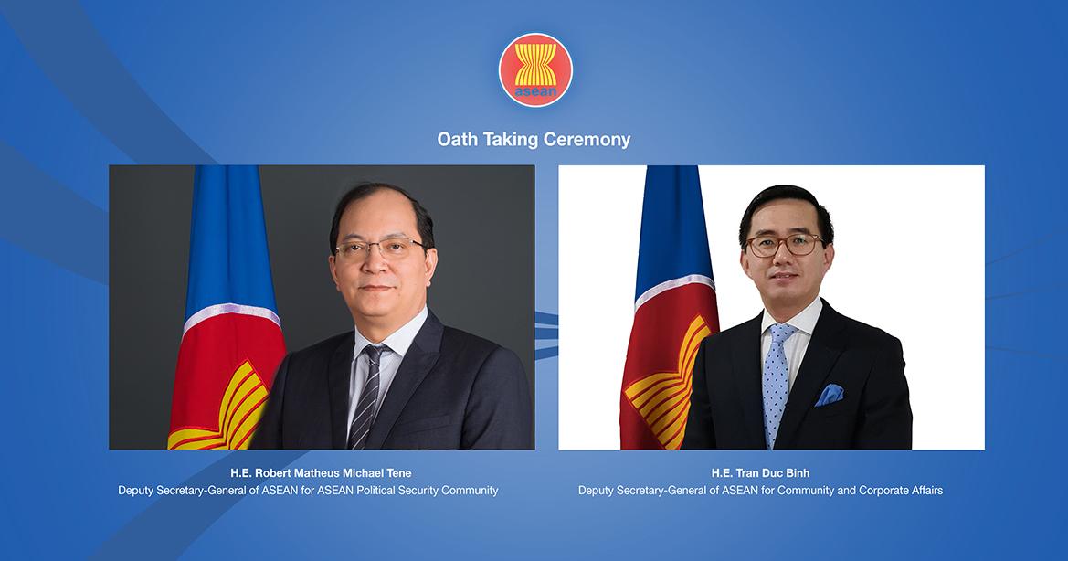 ASEAN welcomes two new Deputy Secretaries-General
